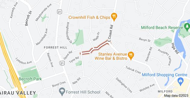 Location of Marsh Avenue