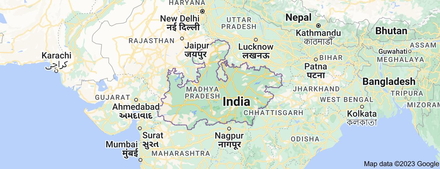 Location of Madhya Pradesh