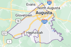 Map of Augusta, Georgia