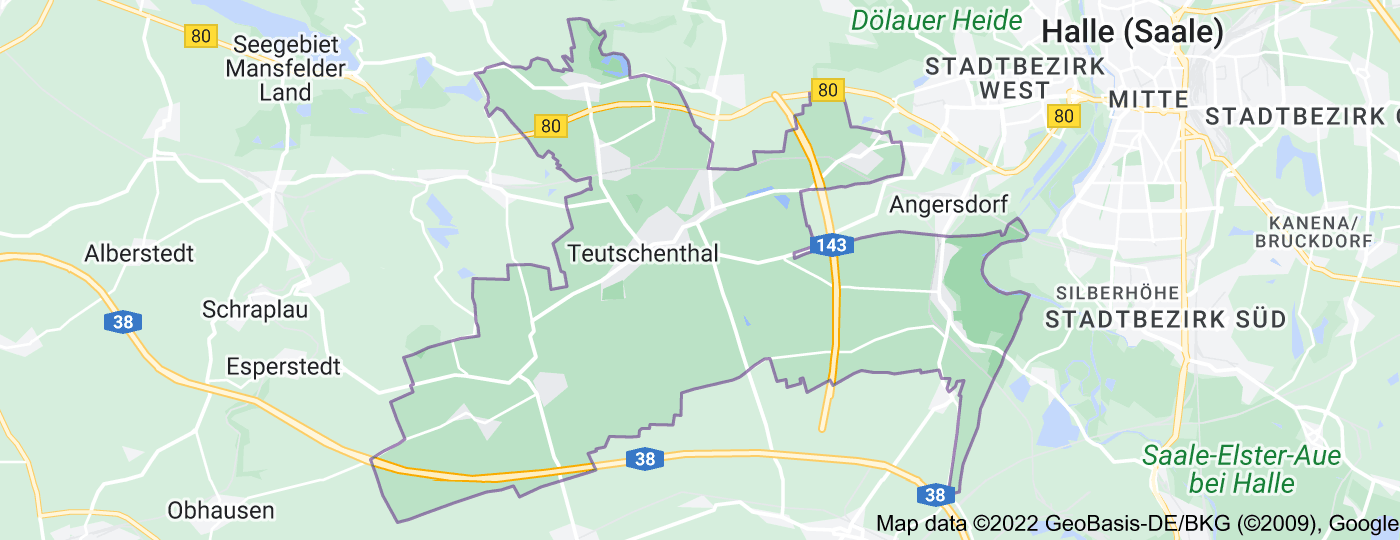 Location of Teutschenthal