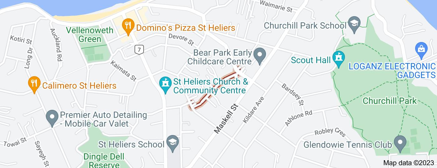 Location of McArthur Avenue