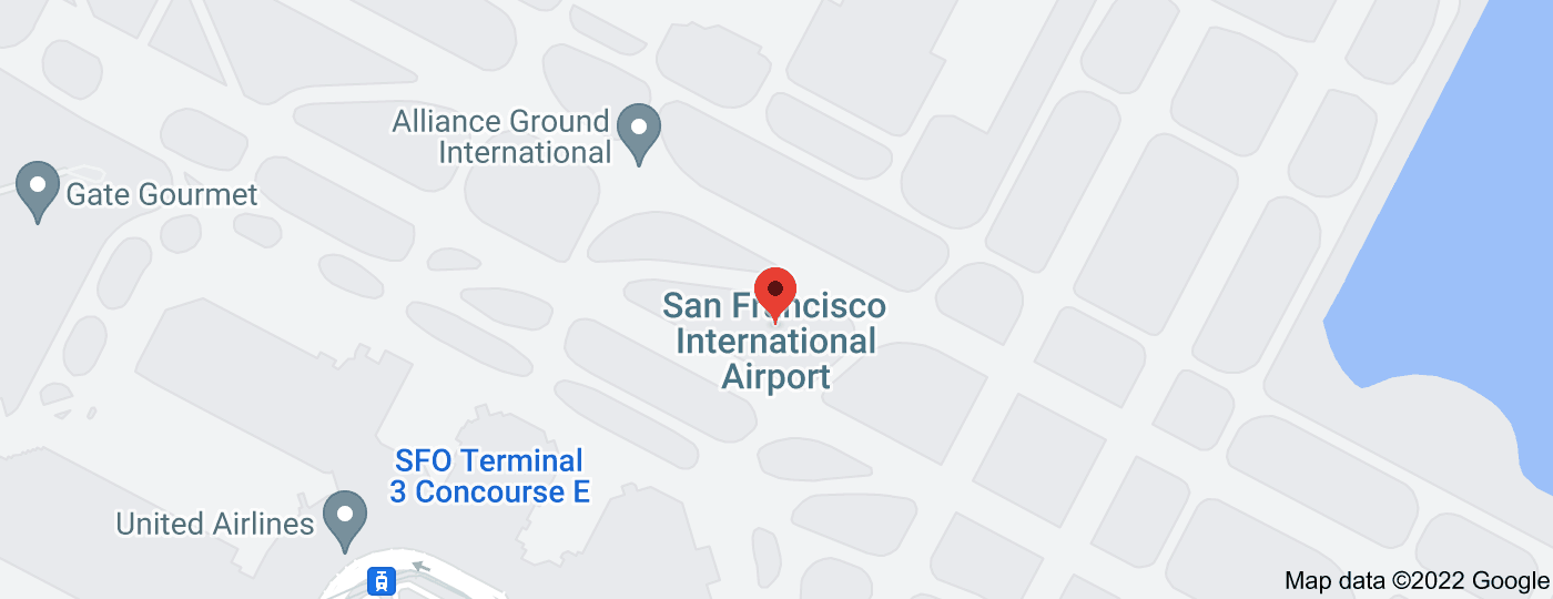 Location of San Francisco International Airport