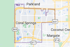 Map of Coral Springs, Florida