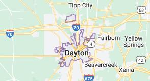 Map of Dayton, Ohio