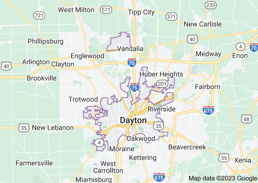 Location of Dayton