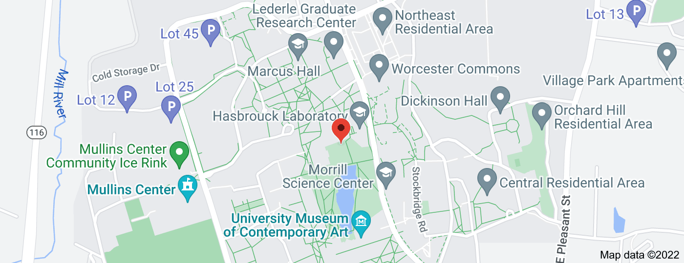Location of University of Massachusetts Amherst