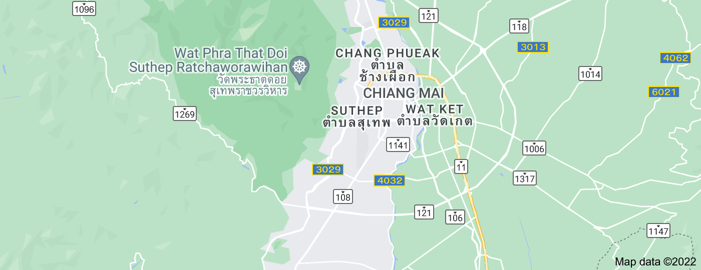 Location of Chiang Mai