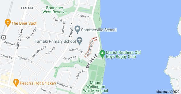 Location of Benghazi Road