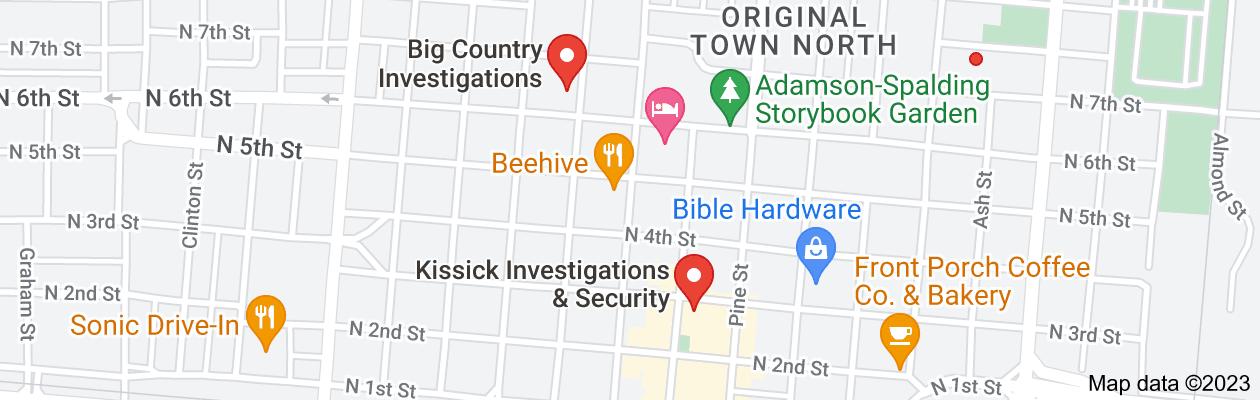 Map of private investigator abilene tx