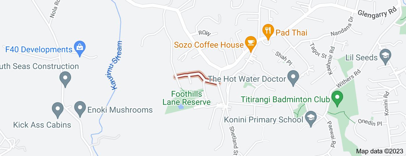 Location of Oratia Drive