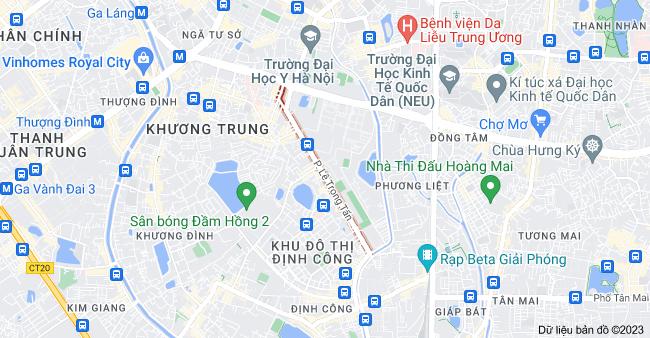 Bản đồ của Lê Trọng Tấn, Khương Mai, Thanh Xuân, Hà Nội