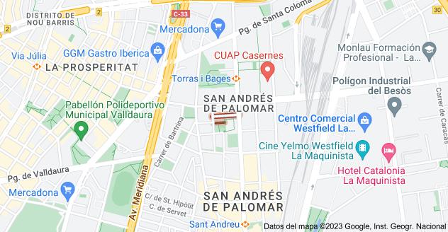 Mapa de Carrer de l'Almirall Pròixida, 08030 Barcelona, España