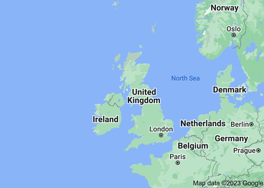 Location of United Kingdom