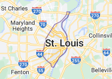 Map of St. Louis