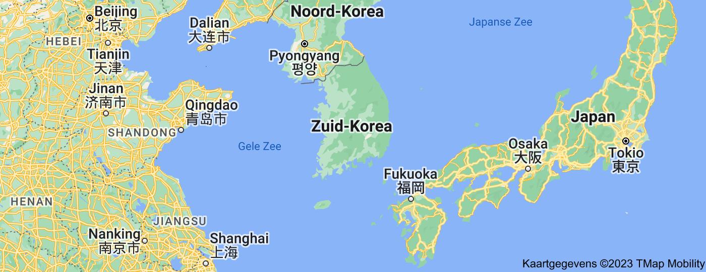 Location of Zuid-Korea