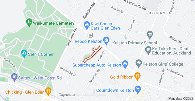 Location of Palm Court Drive