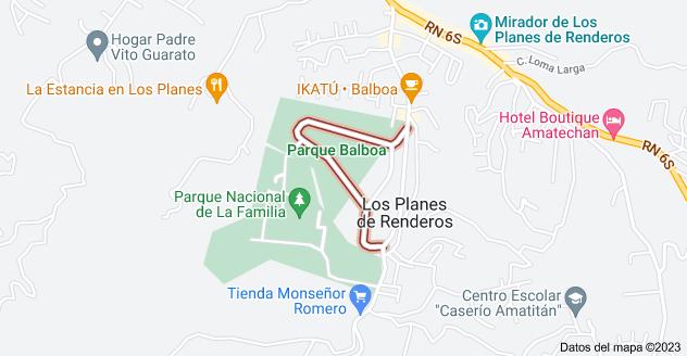 Mapa de Parque Balboa, Planes de Renderos