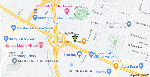 Map of 700 E El Camino Real, Mountain View, CA 94041