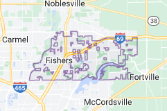 Map of Fishers, Indiana
