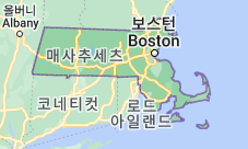 Location of 매사추세츠주