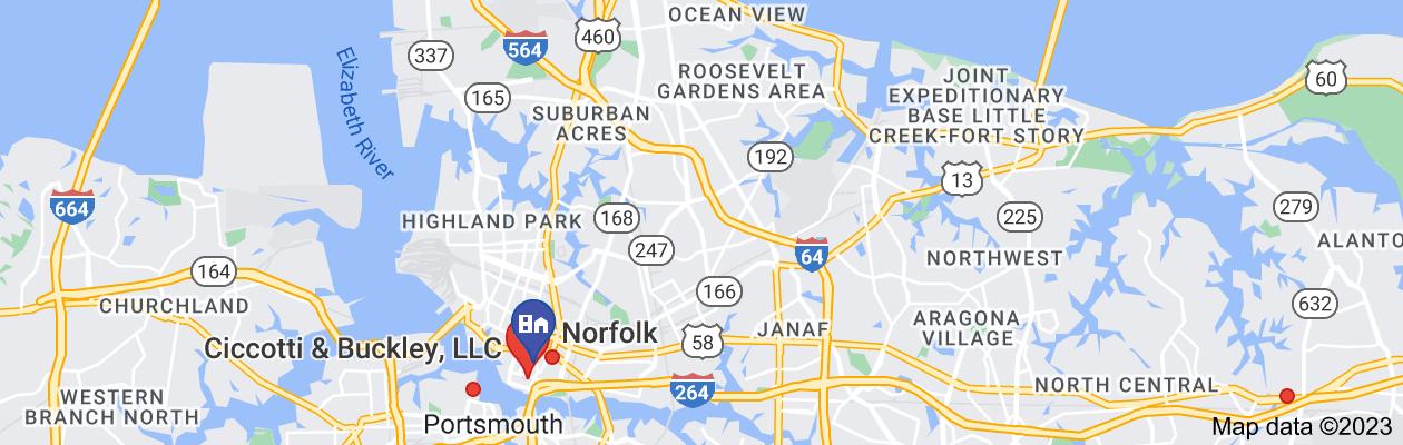 Map of private investigator norfolk virginia