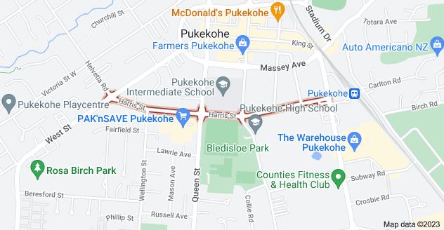 Location of Harris Street