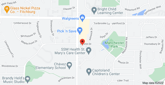 Map of 6601 Westin Dr, Madison, WI 53719