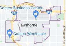 Map of Hawthorne, California