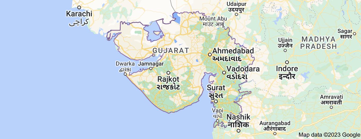 Location of Gujarat