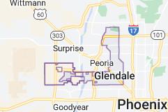 Map of Glendale, Arizona