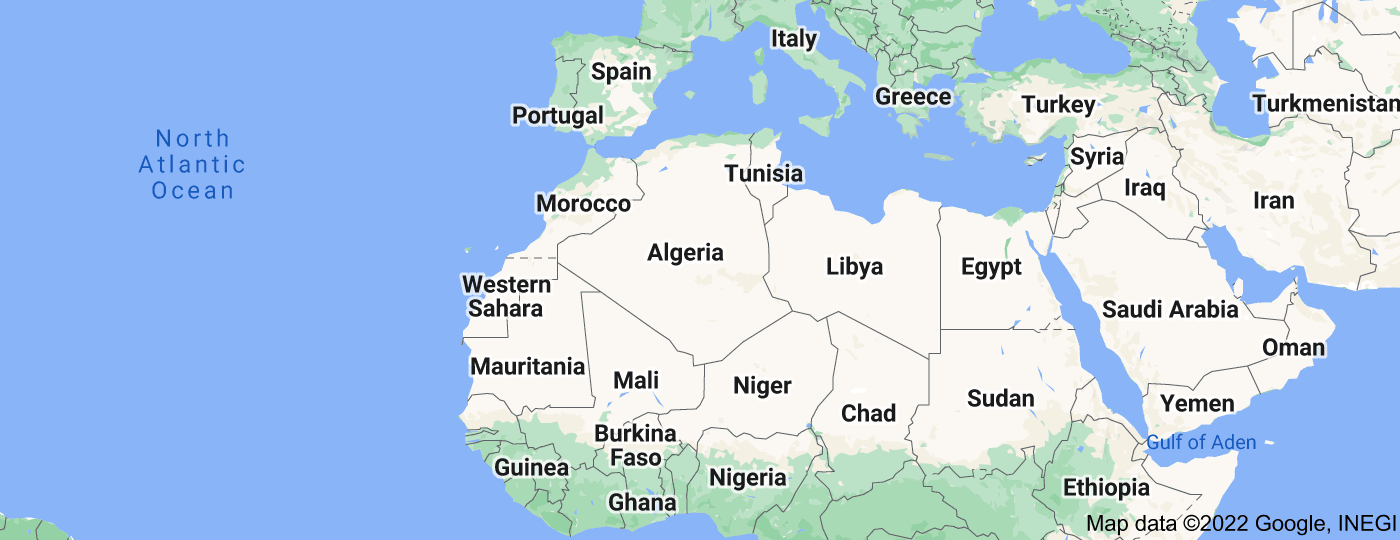 Location of Maghreb