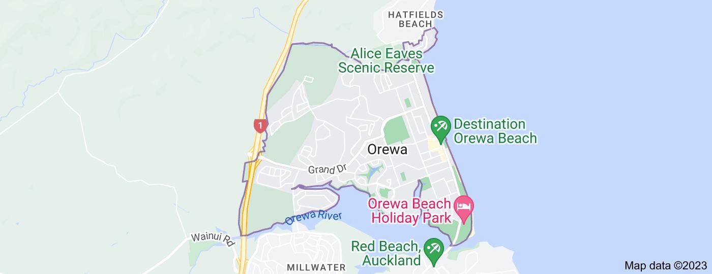 Location of Orewa