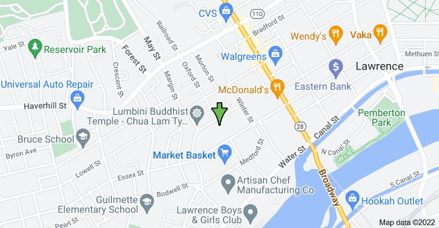 Map of 68 Melvin St, Lawrence, MA 01841