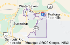 Map of Yuma, Arizona