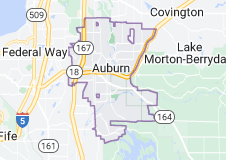 Map of Auburn, Washington