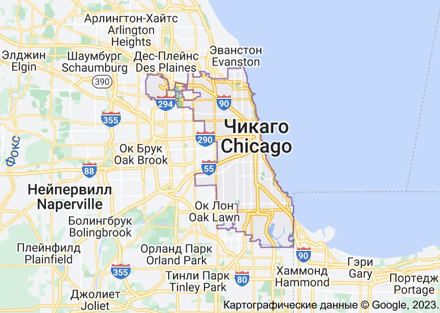 Location of Чикаго