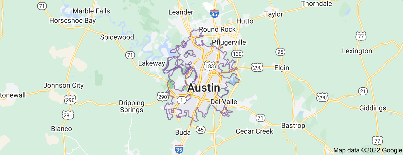 Location of Austin
