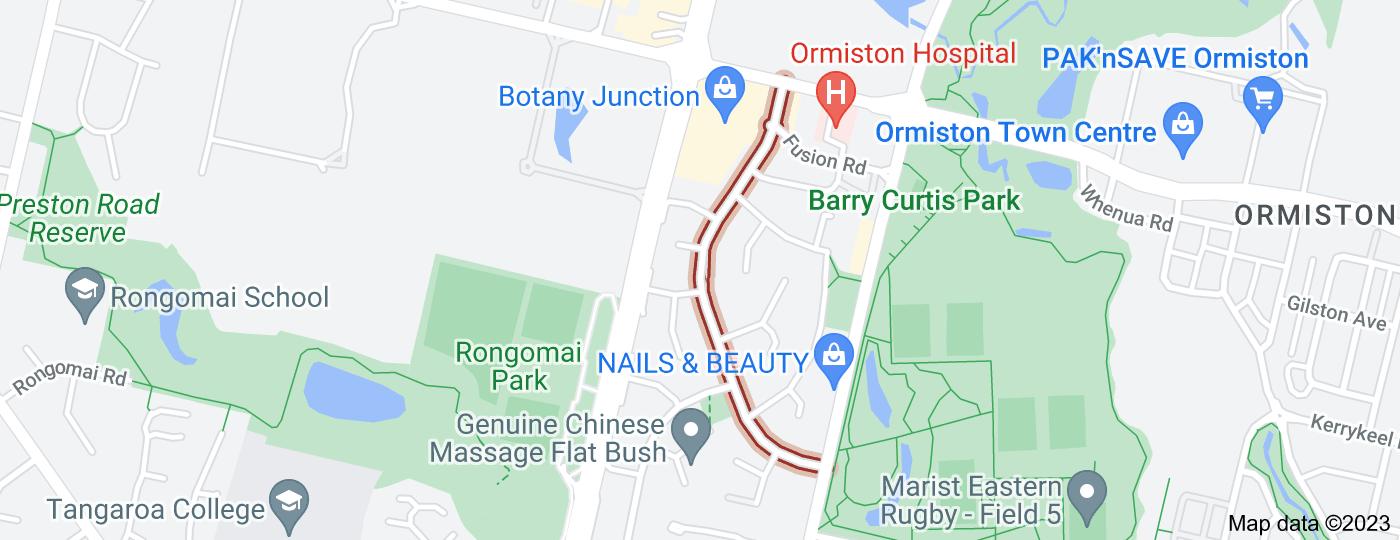 Location of Michael Jones Drive