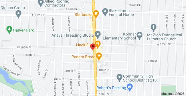 Map of 10522 S Cicero Ave, Oak Lawn, IL 60453