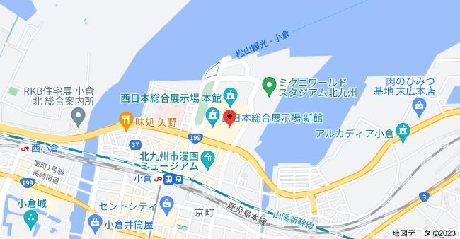 〒802-0001 福岡県北九州市小倉北区浅野3丁目8−1の地図