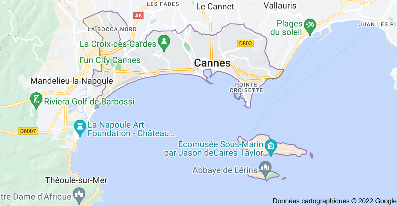 Cannes: carte