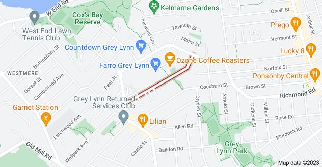 Location of Sackville Street