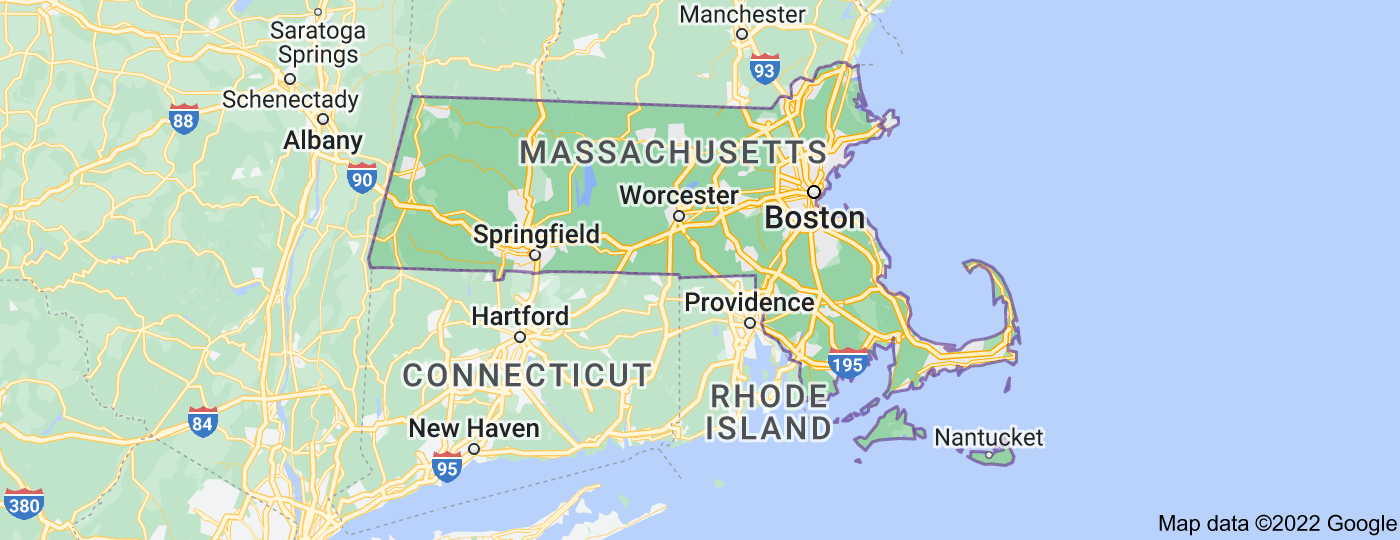 Location of Massachusetts