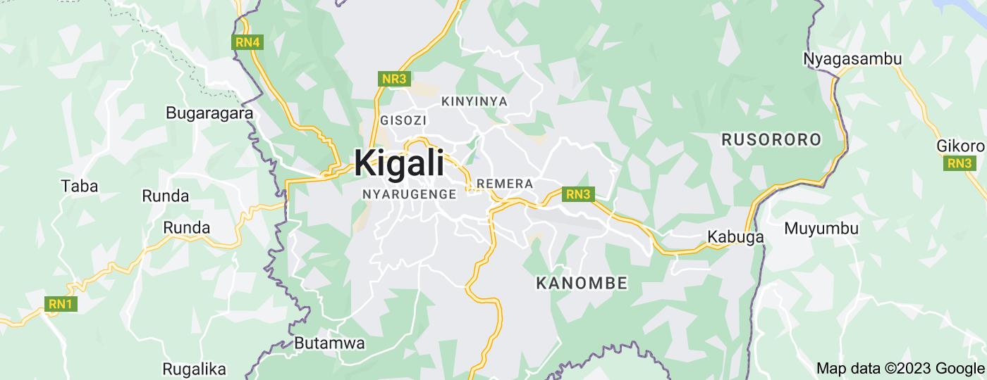 Location of Kigali