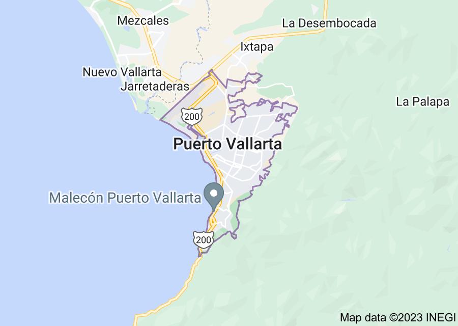 Location of Puerto Vallarta