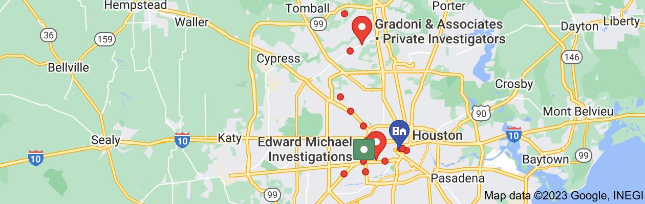 Map of private investigator houston tx