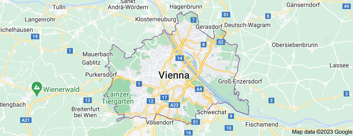 Location of Vienna