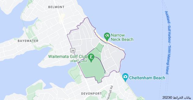 Location of Narrow Neck, New Zealand