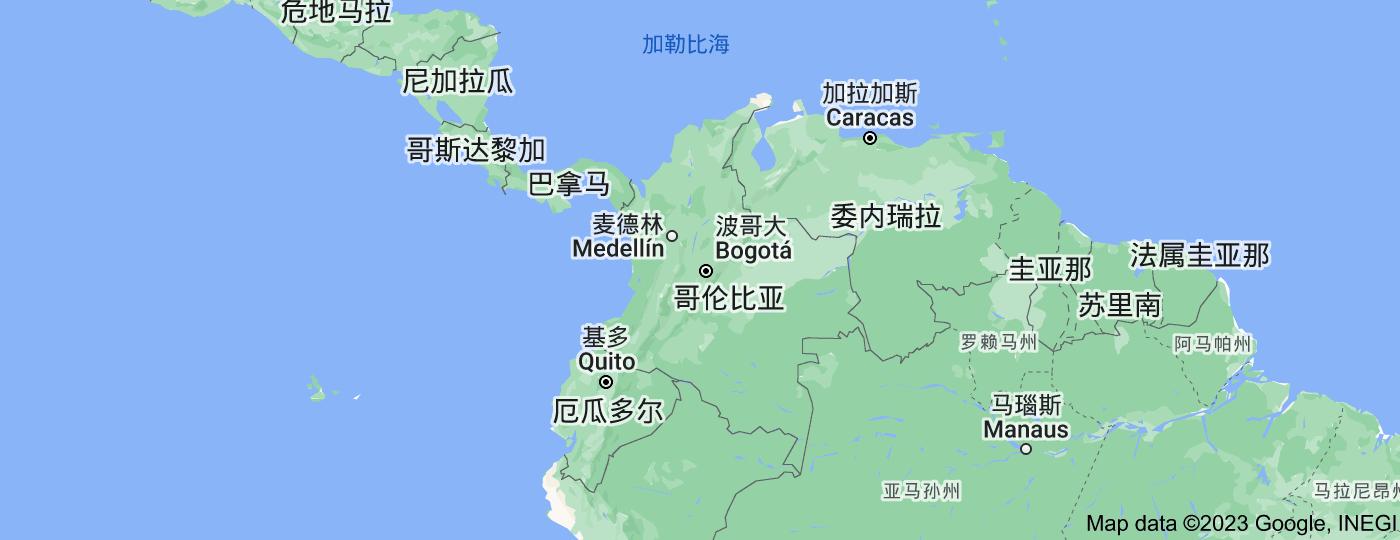 Location of 哥伦比亚