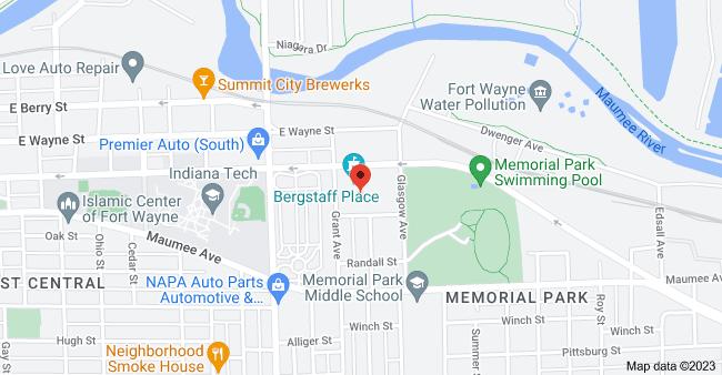 Map of 2020 E Washington Blvd #500, Fort Wayne, IN 46803